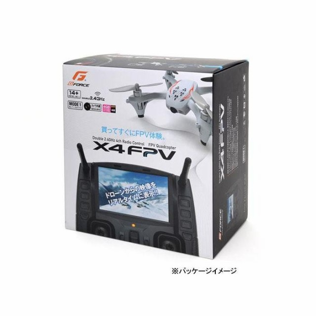 G-FORCE ジーフォース X4 2.4GHz FPV ドロー...