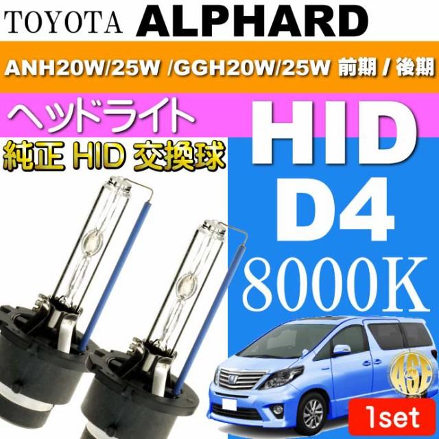 送料無料 アルファード D4C D4S D4R HIDバルブ 80...