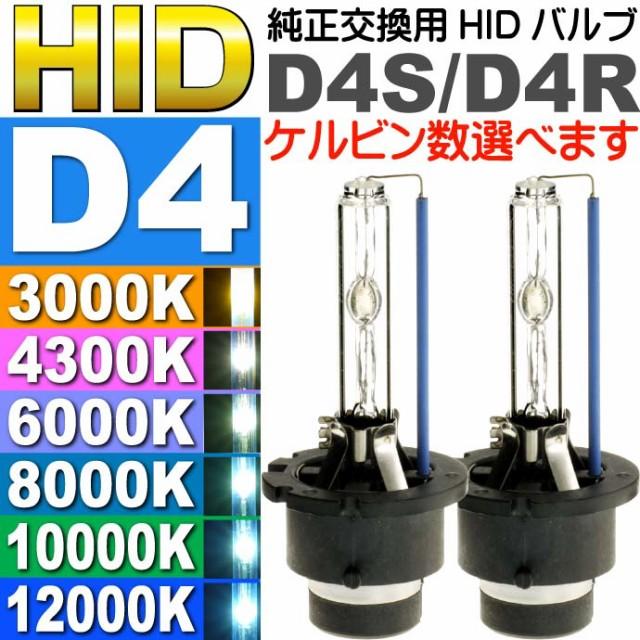送料無料 D4C/D4S/D4R HIDバルブ純正交換用2本入 ...