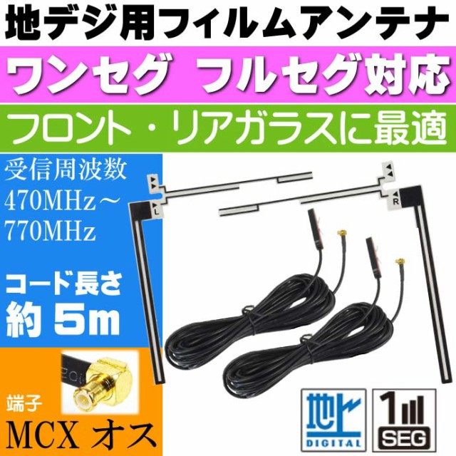 送料無料 地上波デジタルTV用 フィルムアンテナ M...