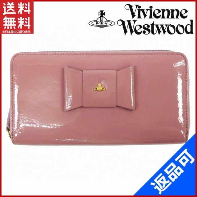 336d2d426587 ヴィヴィアン・ウエストウッド 財布 Vivienne Westwood 長財布 ラウンドファスナー財布 リボンモチーフ ピンク系