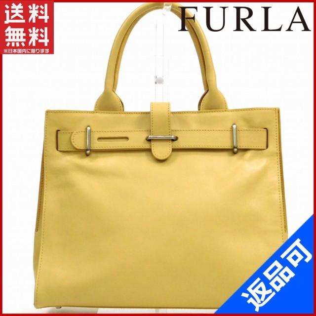 764c81ace993 フルラ バッグ FURLA ハンドバッグ ベージュ 即納 【中古】 X14254の通販 ...