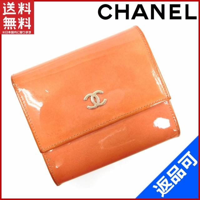 シャネル 財布 CHANEL 二つ折り財布 Wホック財布 6番台 ピンク 即納 【中古】 X15703