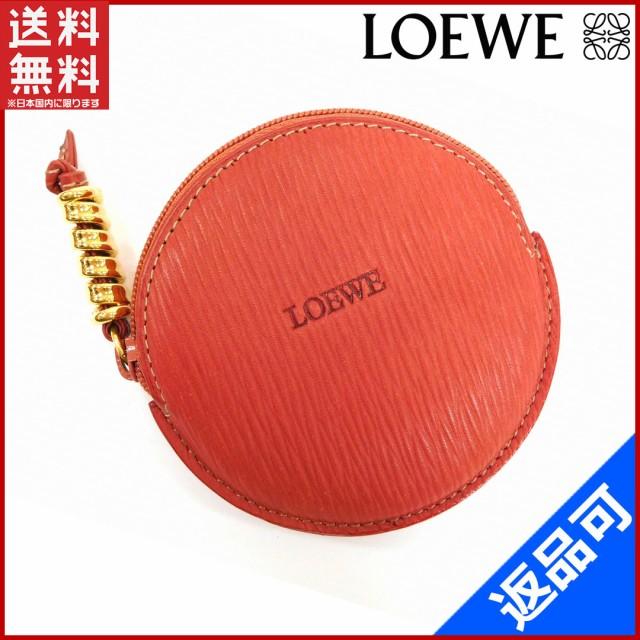 f8461f5151f1 ロエベ 財布 LOEWE コインケース 小銭入れ ツイスト金具付き レッド×ゴールド 人気 美品