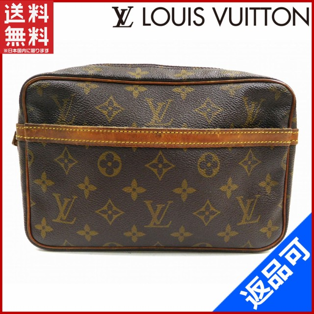 outlet store 714fc 0b2a8 ルイヴィトン バッグ LOUIS VUITTON セカンドバッグ ポーチ コンピエーニュ23 ブラウン 人気 激安 【中古】 X7521