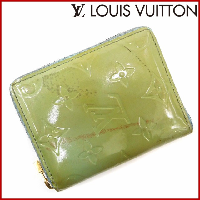 new product 0fca2 e5d31 ルイヴィトン 財布 LOUIS VUITTON 二つ折り財布 ライトグリーン ...