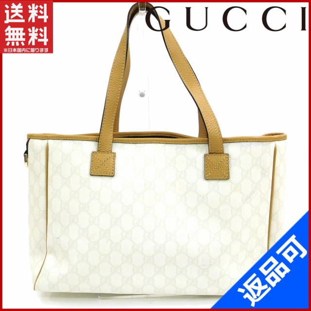 reputable site 70a41 6f1f3 グッチ バッグ GUCCI トートバッグ ホワイト 激安 人気 【中古】 X8929