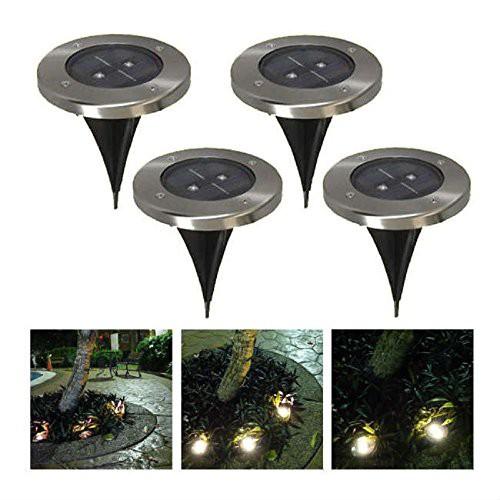 埋め込み式 LEDソーラーガーデンライト 4個セット...