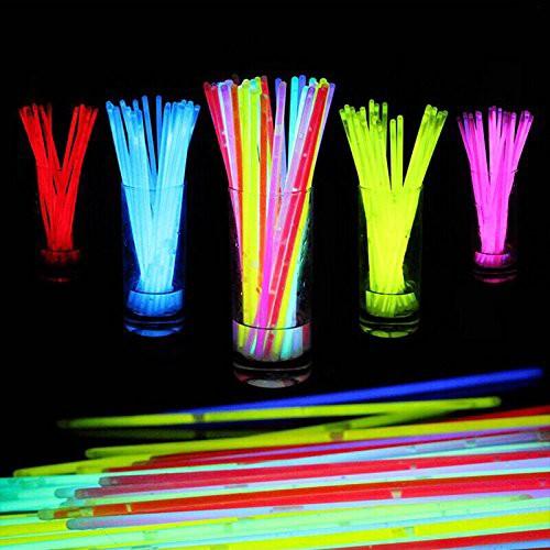 蛍光ブレスレット10色100本セット 光る サイリウ...