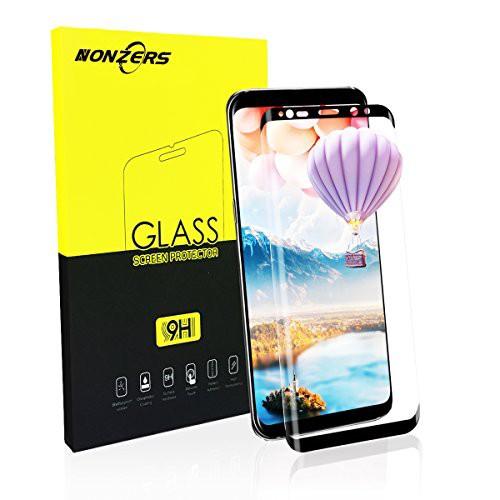 NONZERS Samsung Galaxy S8 全面保護 ガラスフィ...