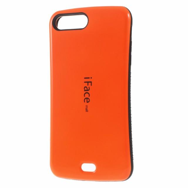iPhone 7 Plus ソフトケース オレンジ 強化ガラス...
