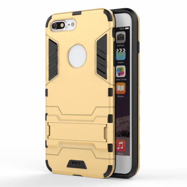 iPhone 7 Plus ハードケース ゴールド 強化ガラス...