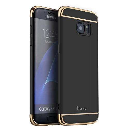 Galaxy S7 edge ハードケース ブラック 液晶保護...