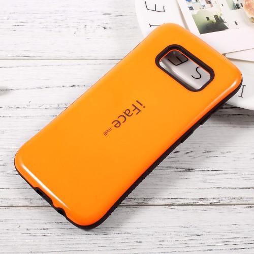 Galaxy S8 ハードケース オレンジ 液晶保護フィル...