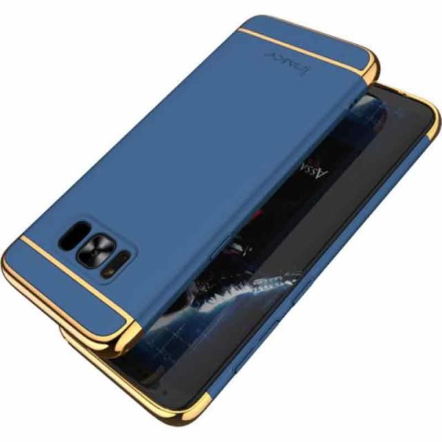 Galaxy S8 ハードケース ブルー 液晶保護フィルム...