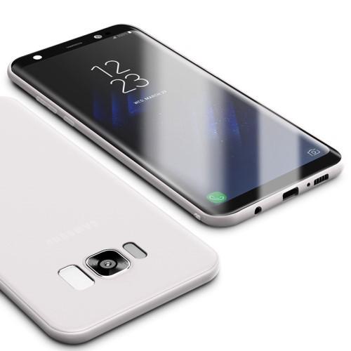 Galaxy S8 ハードケース ホワイト 液晶保護フィル...