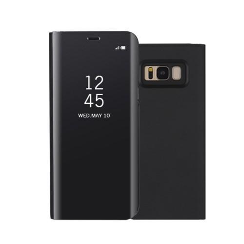 Galaxy S8 レザーケース ブラック 液晶保護フィル...