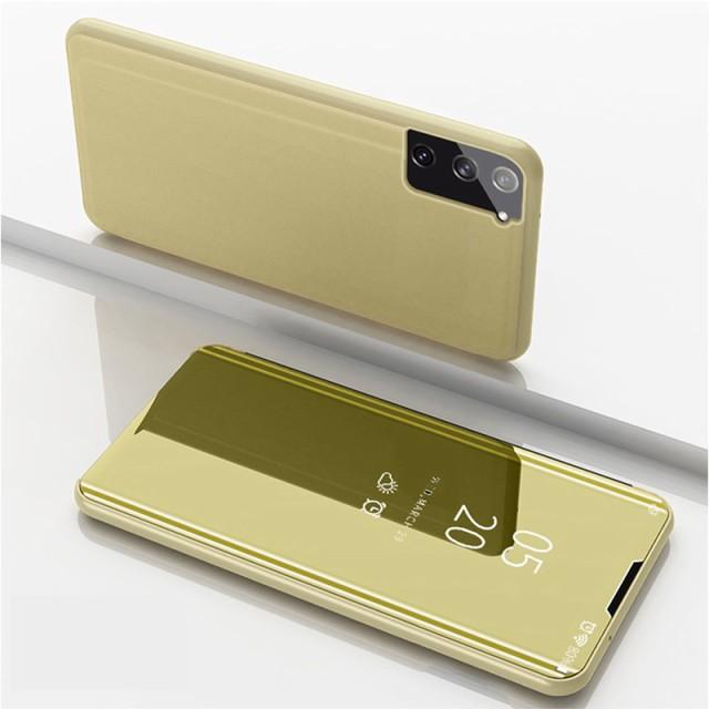 Galaxy S8 レザーケース ゴールド 液晶保護フィル...
