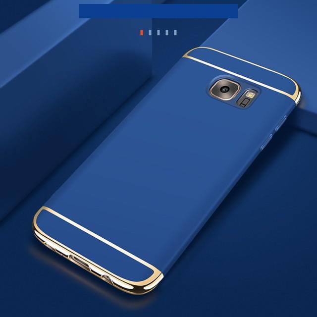 Galaxy S7 edge ハードケース ブルー 液晶保護フ...