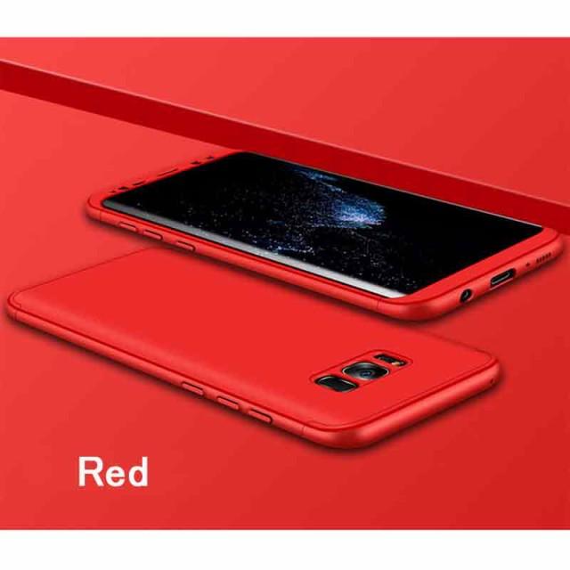 Galaxy S7 edge ハードケース レッド 液晶保護フ...