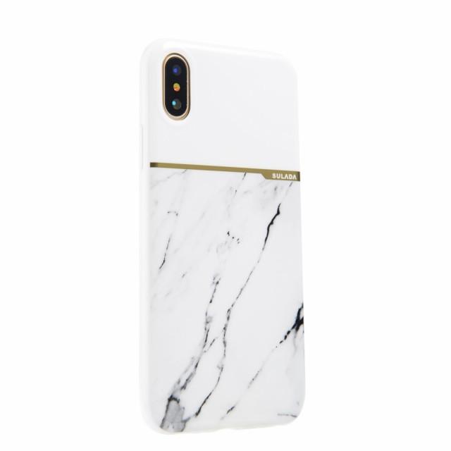 iPhone X ソフトケース ホワイト 強化ガラス保護...