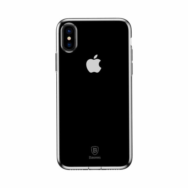 iPhone X ソフトケース 透明 強化ガラス保護フィ...