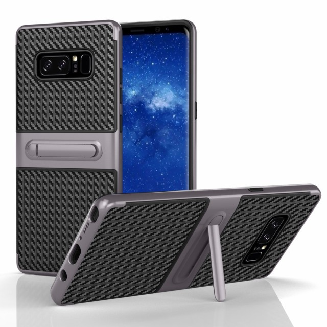 Galaxy Note 8 ハードケース グレー 液晶保護フィ...
