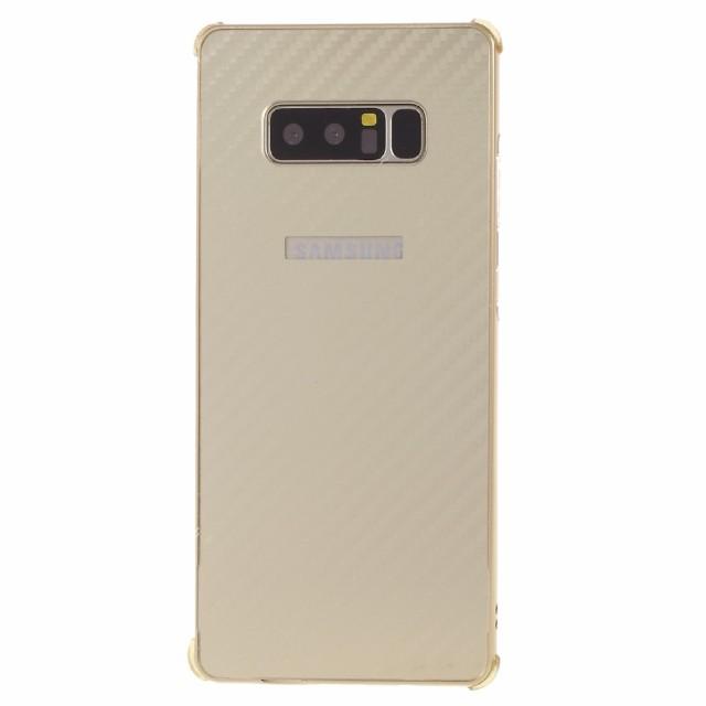 Galaxy Note 8 ハードケース ゴールド 液晶保護フ...