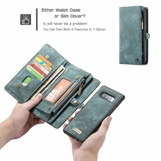 Galaxy Note 8 レザーケース グリーン 液晶保護フ...