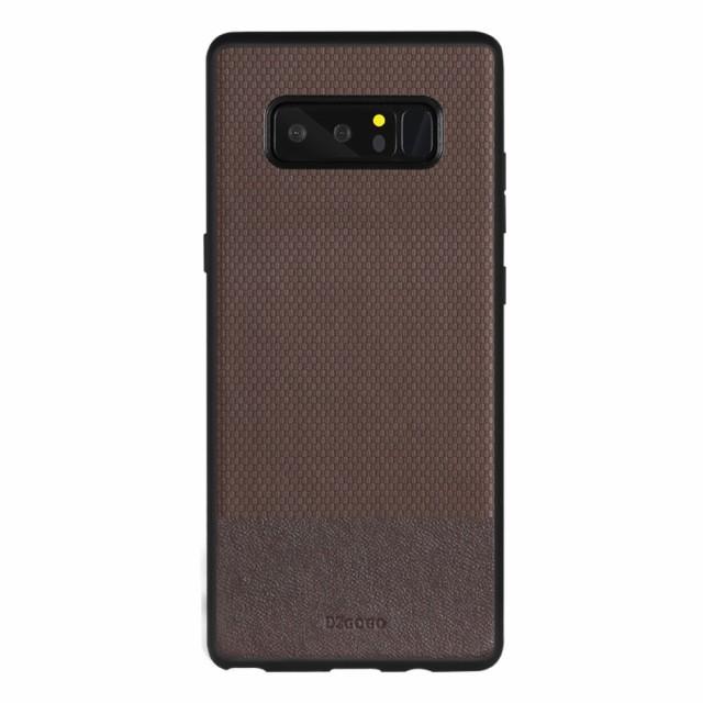 Galaxy Note 8 レザーケース ブラウン 液晶保護フ...