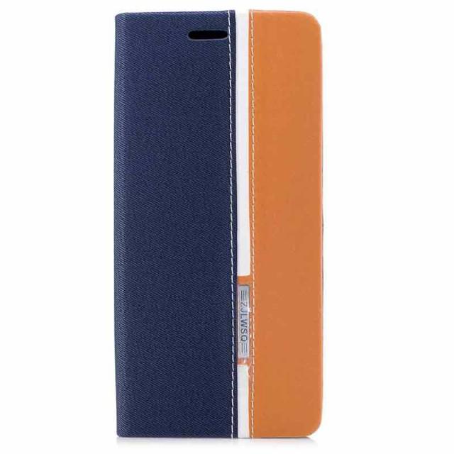 Galaxy Note 8 レザーケース ブルー 液晶保護フィ...