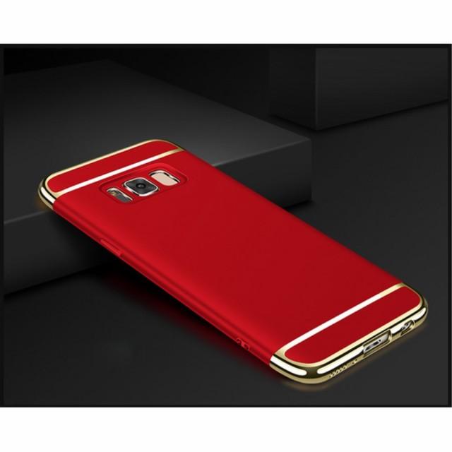 Galaxy Note 8 ハードケース レッド 液晶保護フィ...