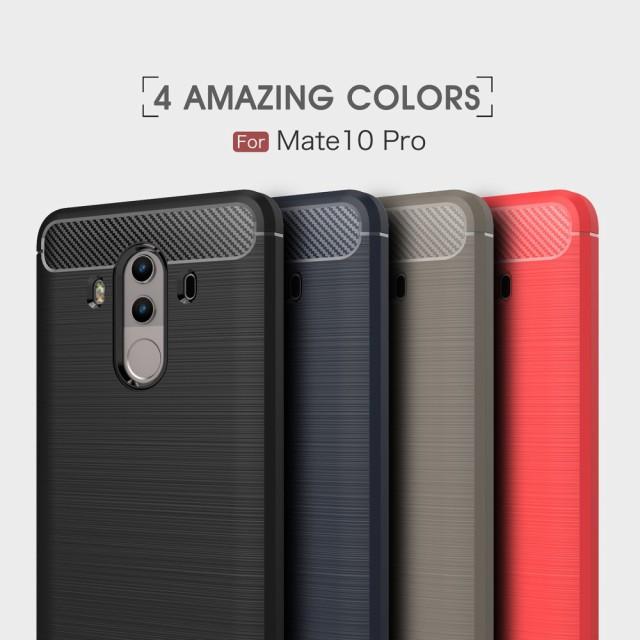 Huawei Mate 10 Pro ソフトケース ブラック 強化...