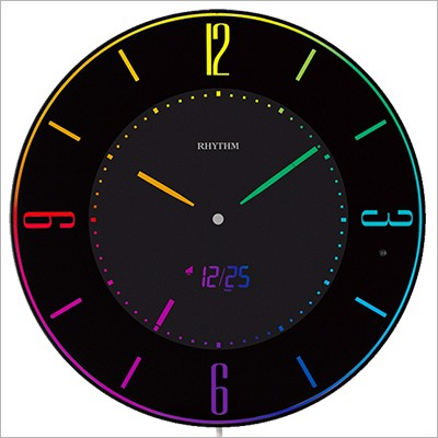 RHYTHM リズム時計 クロック 8RZ197SR02 薄型掛時...