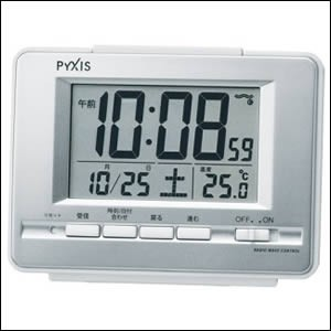 SEIKO セイコー クロック NR535W 電波 目覚まし時...