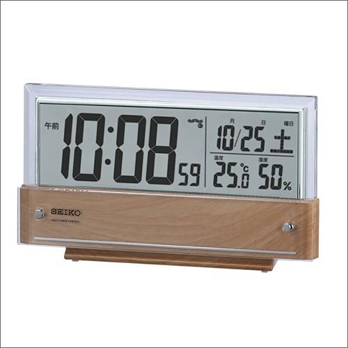 SEIKO セイコー クロック SQ782B 置時計 デジタル...