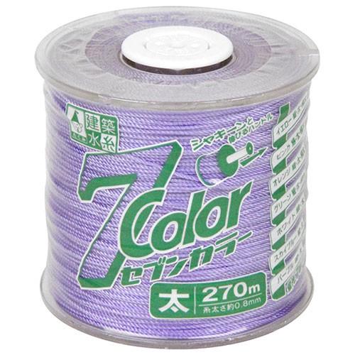 水糸 ナイロン 丁張り糸 蛍光パープル 太 70m [土...