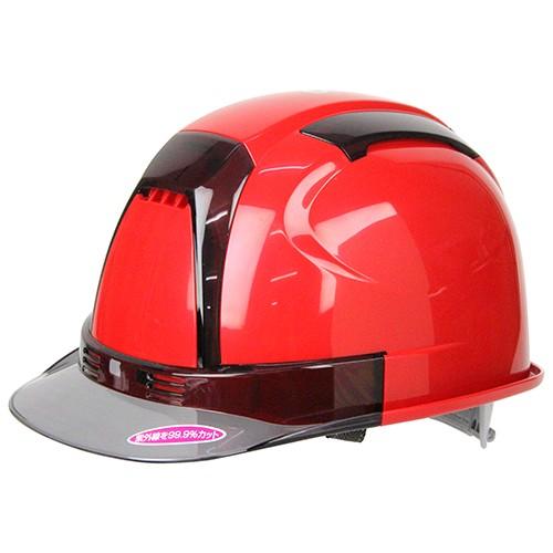 ヴェンティーヘルメット 赤/TOYO/保護具/ヘ...