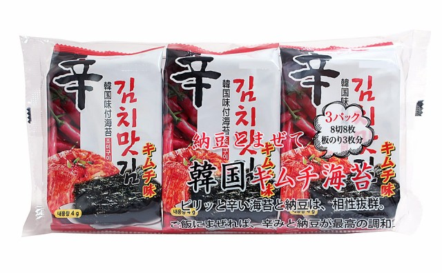 ★まとめ買い★ マルホ物産 韓国キムチ味付海苔...