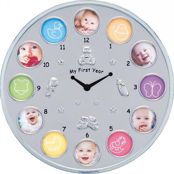 【送料無料】時計付ベビーフレーム 12窓 MB21−130−C【代引不可】【ギフト館】