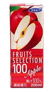 エルビーフルーツセレクション 100% アップル...