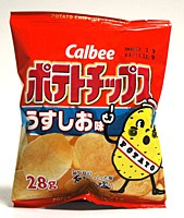 カルビー ポテトチップス うすしお味 28g【イ...