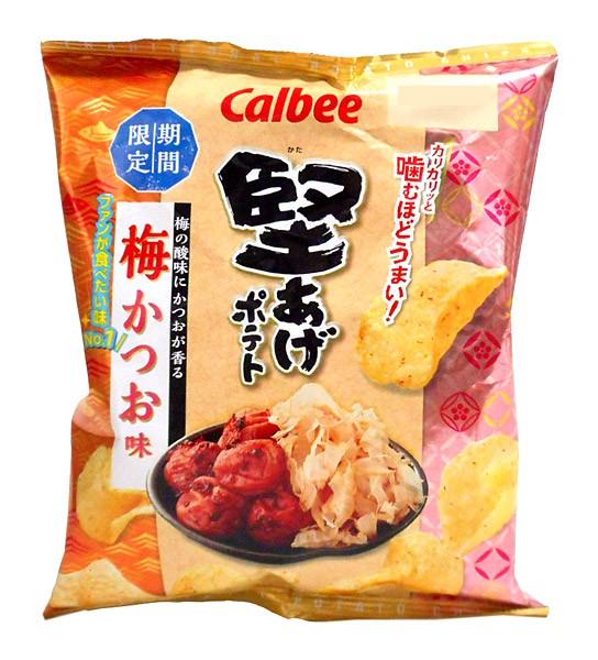 カルビー 堅あげポテト梅かつお味60g【イージャ...