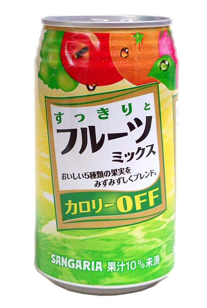 サンガリア すっきりとフルーツミックス 350g缶...