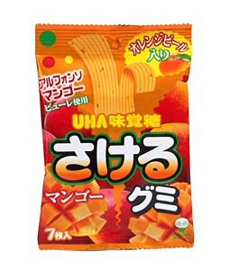 UHA味覚糖 さけるグミ マンゴー 7枚【イージャ...