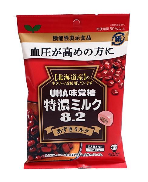 UHA味覚糖 機能性特濃ミルク8.2アズキミルク93g...