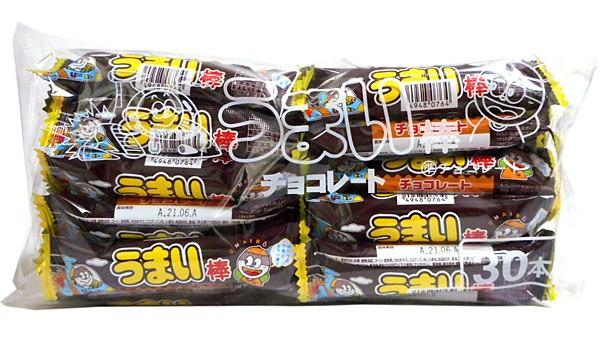 うまい棒 チョコレート味 30本入【イージャパン...