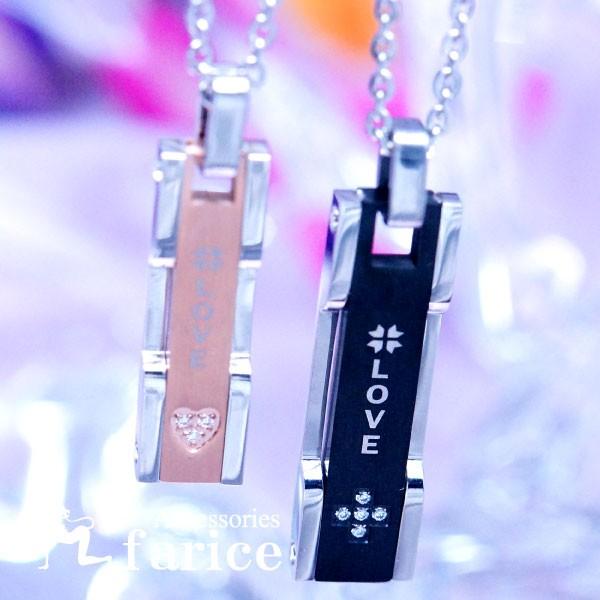【LOVE/愛&四つ葉】デザイン クリアストーン装飾...