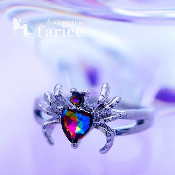 蜘蛛 スパイダー 彫り チタン リング 指輪 メンズ...
