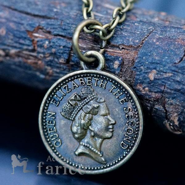 1ペニー コイン イギリス エリザベス女王 メンズ ...